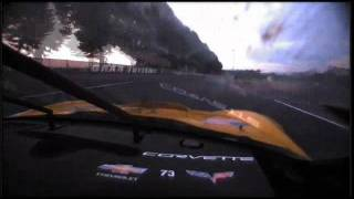 2011 24 hours of lemans corvette c6r onboard lap