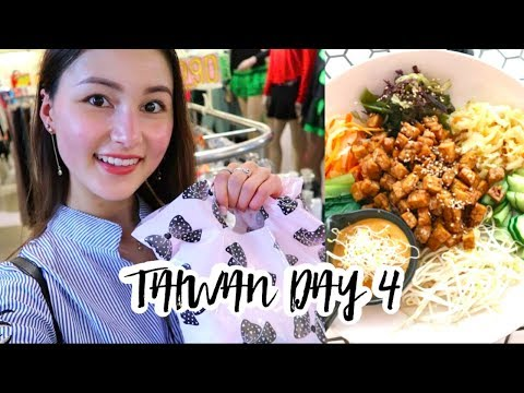 Taiwan Trip Day 4⎮Wufenpu Shopping, Raohe street food & Vegan food