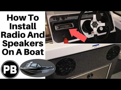 how to install a stereo and speakers on your boat bluetooth kenwood youtube. Black Bedroom Furniture Sets. Home Design Ideas