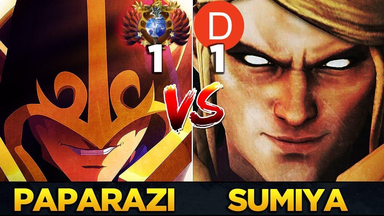 Top  Mmr World Paparazi Vs Top  Dotabuff Invoker Sumiya Epic Battle Dota