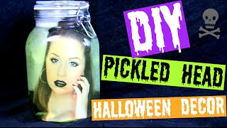 DIY Pickled Head in a Jar | Halloween Decor!!
