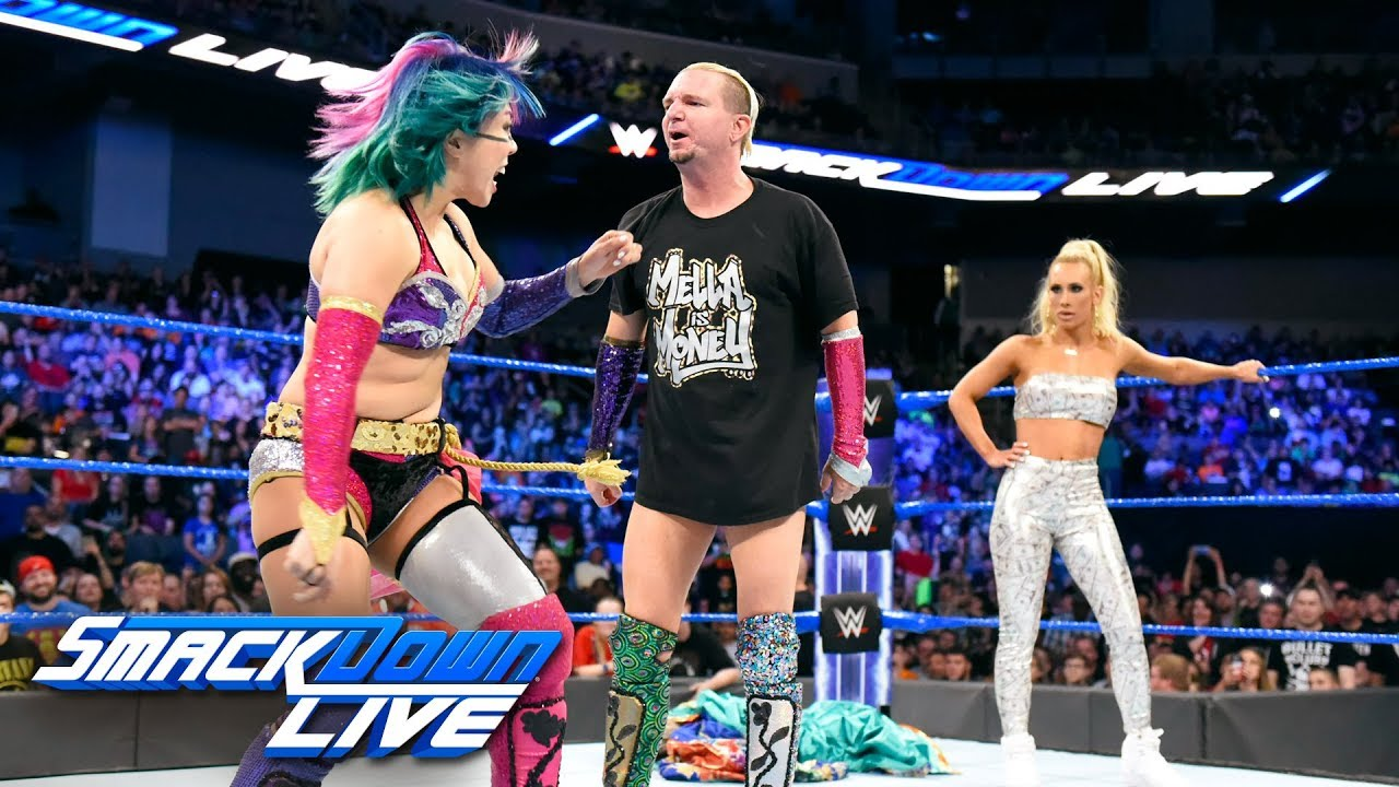 Asuka confronts Carmella and James Ellsworth: SmackDown LIVE, June 19, 2018