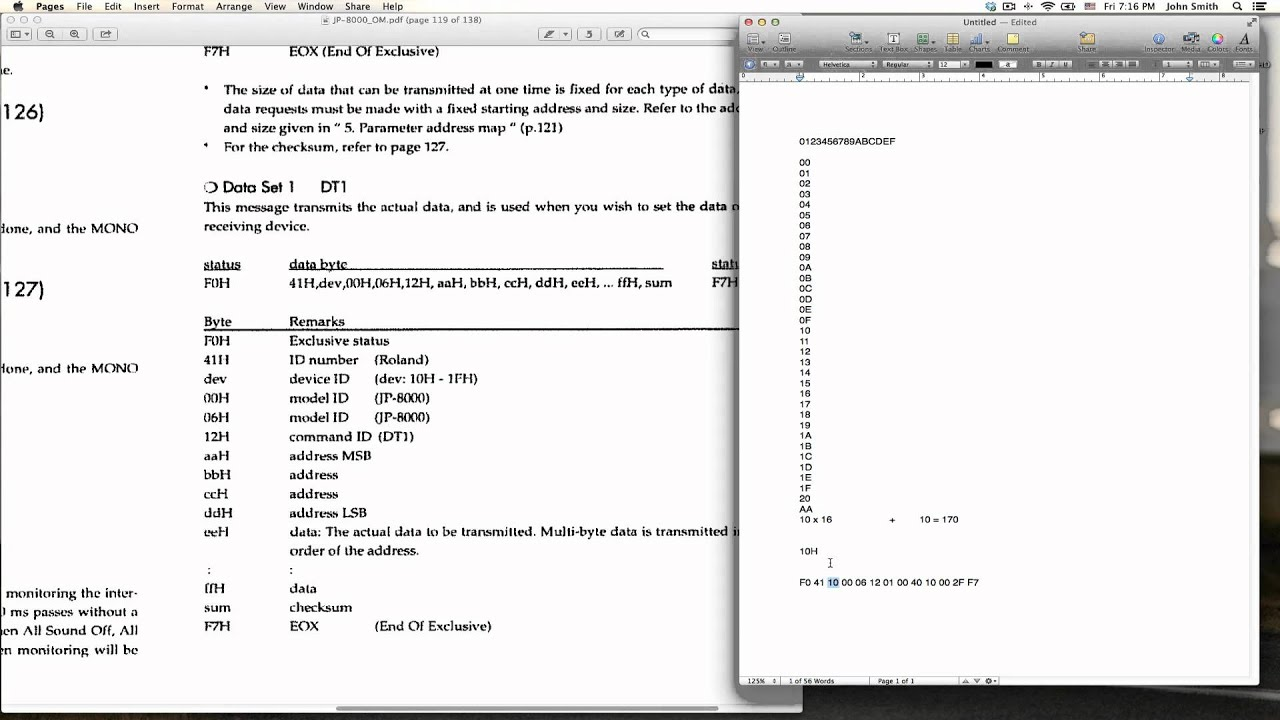 SysEx Beginner Tutorial, System Exclusive MIDI (JP-8000)