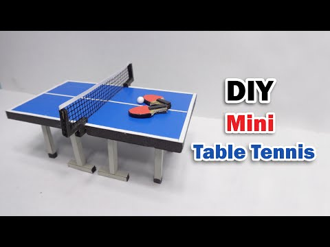 How to Make Ping Pong Table From Cardboard - DIY Table Tennis