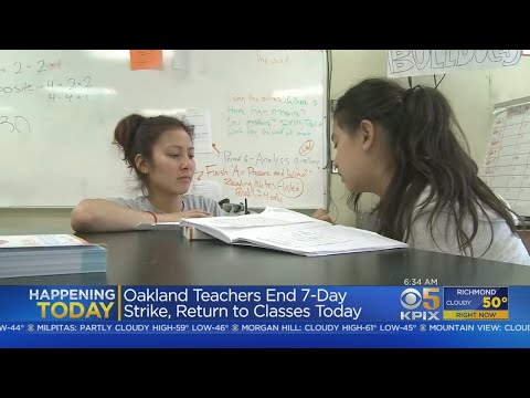 Oakland Teachers Return To Work After Approving Contract Deal