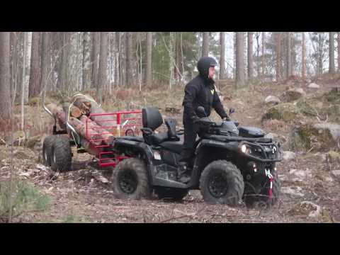 Timber atv-trailer with Can-am atv