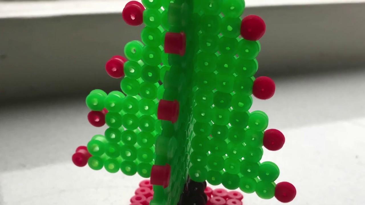3d Kerstboom Van Strijkkralen Maken Youtube