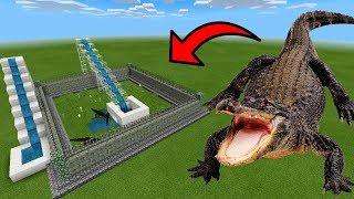 How To Make an ALLIGATOR Water Slide in Minecraft PE | MCPE Journalist