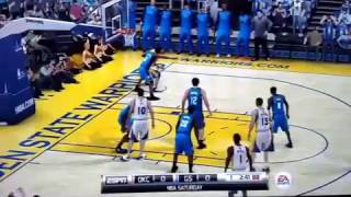 NBA Elite 11 PS3 Gameplay: Thunder vs Warriors - ONE GAME AT A TIME