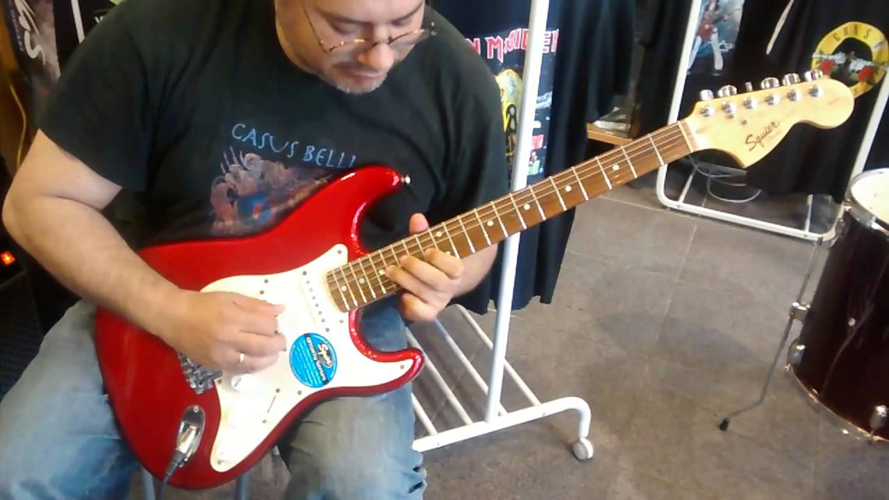 testing a fender squier affinity strat with engl screamer