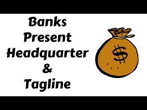 Banks Present Headquarter And Tagline in Hindi | Education