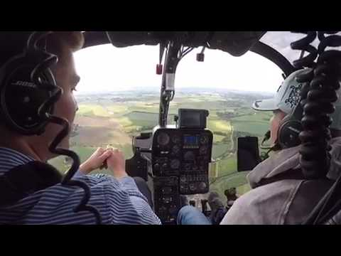 Gazelle helicopter # Yorkshire helicopter flight