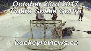 October 23rd 2017 Tigers Hockey Goalie GoPro
