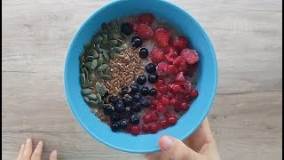 Vitalia healthy food - Чиа пудинг со мусли и бадемово млеко (lactose free, vege)