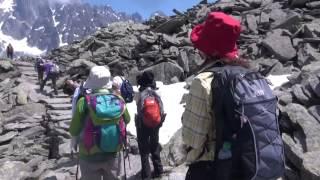 12 july walking plan Aiguille Montenvers Chamonix Mont Blanc Alps