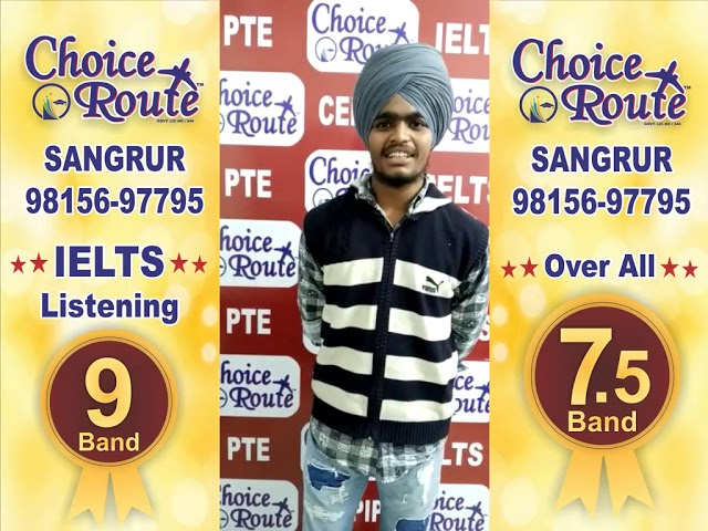 Congratulations Karandeep Singh - Choice Route is the Best PTE and IELTS institute in Sangrur City.