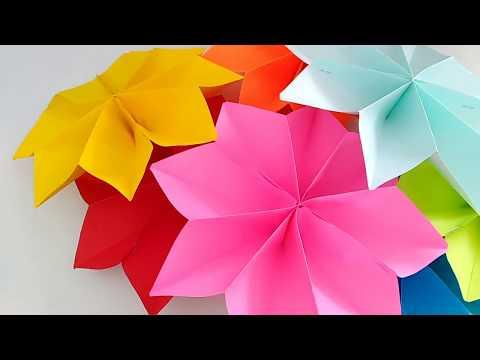 Paper Flowers || DIY Paper Stars Garland || Festival season Home Decoration ideas