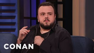 """John Bradley Gave An Emotional Speech At The """"Game Of Thrones"""" Wrap Party - CONAN on TBS"""