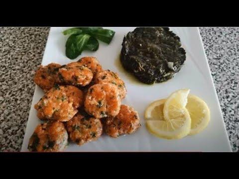 croquettes-de-poisson-et-épinards-frais-الأسماك-الطازجة-والكروكيت-والسبانخ😍🌹👍👌🙌