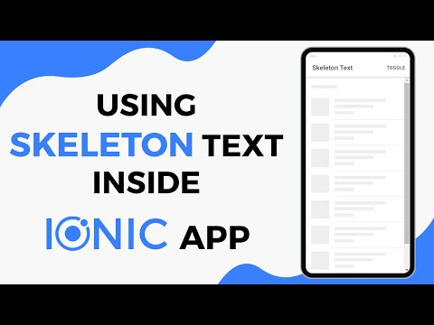 Using Skeleton Text Inside Ionic 4