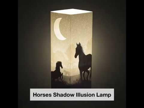 Horse Shadow Illusion Lamp - Lampeez
