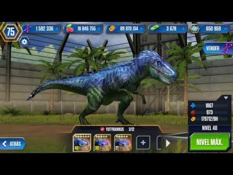 YUTYRANNUS MÁXIMO NIVEL! Jurassic World The Game