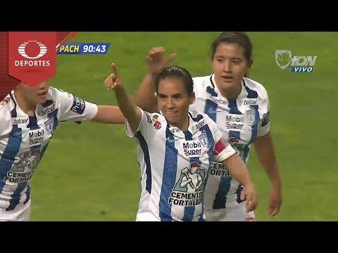 Gol de M. Ocampo | Toluca 0-3 Pachuca | Liga Femenil-Clausura 2018 | Televisa Deportes