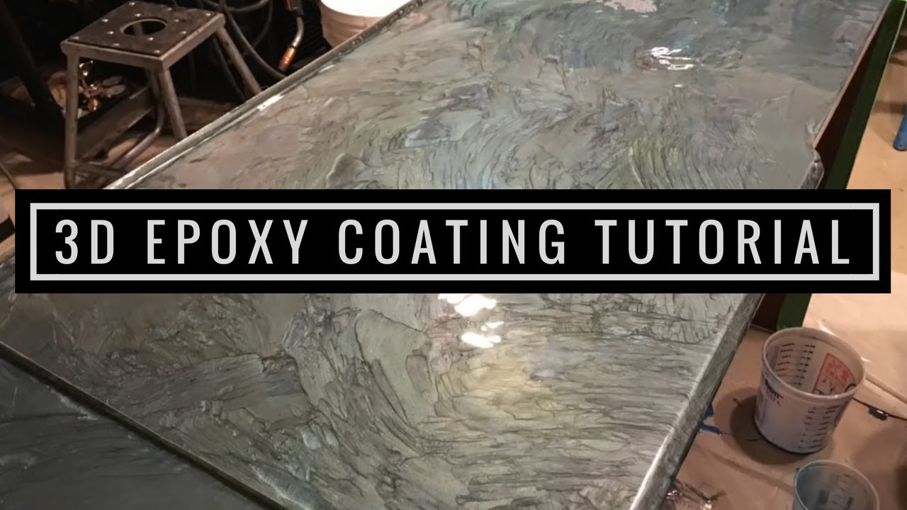 3D Metallic Epoxy Coating Tutorial  YouTube