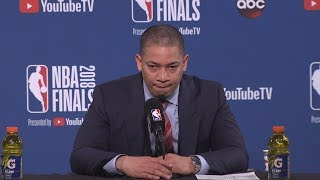 Tyronn Lue Postgame Interview - Game 1 | Cavaliers vs Warriors | May 31, 2018 | 2018 NBA Finals