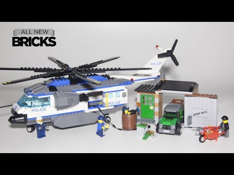 Lego City 60046 Helicopter Surveillance Speed Build