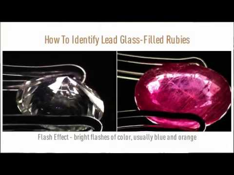 How to Classify a Lead Glass–Filled Ruby by GIA