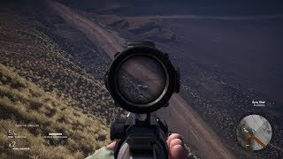 Amazing Stealth Sniper Gameplay from Open World Game Ghost Recon Wildlands