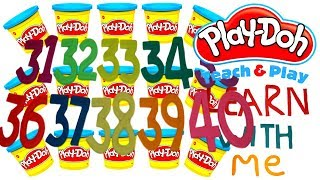 LEARN TO COUNT NUMBER 31-40 WITH PLAY-DOH In ENGLISH l Squishy Fun