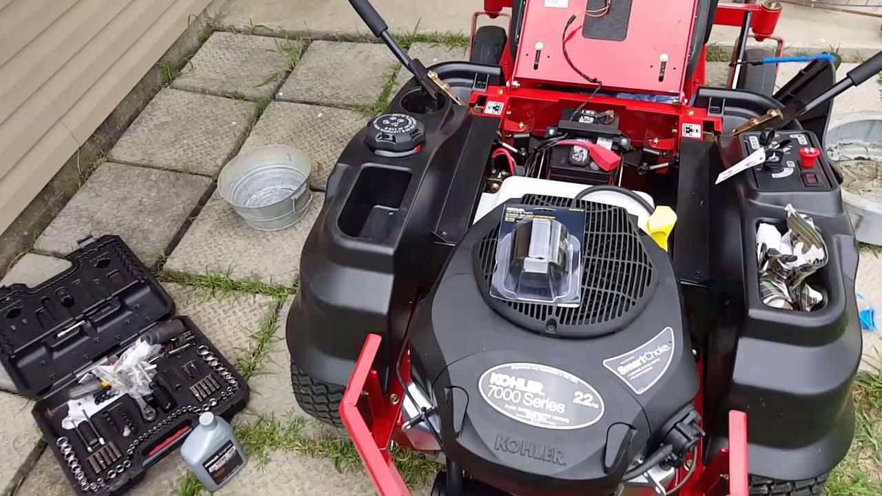 1st Oil Change On Kohler Engine 7000 Series Youtube