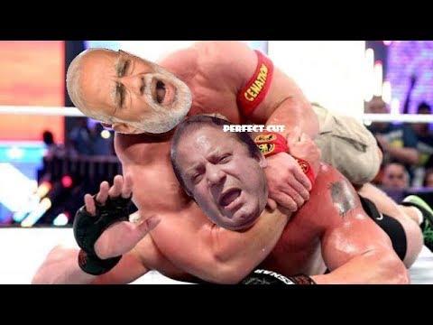 Narendra Modi vs Nawaz Sharif Funny WWE Match