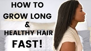 HOW TO GROW LONG AND HEALTHY HAIR FAST! GROWTH & HEALTH TIPS