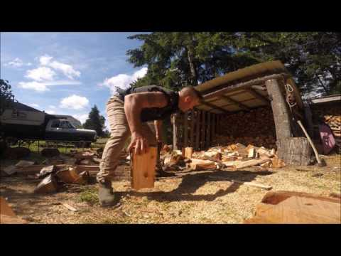 HOW THE WOOD MAN STACKS HIS FIREWOOD.