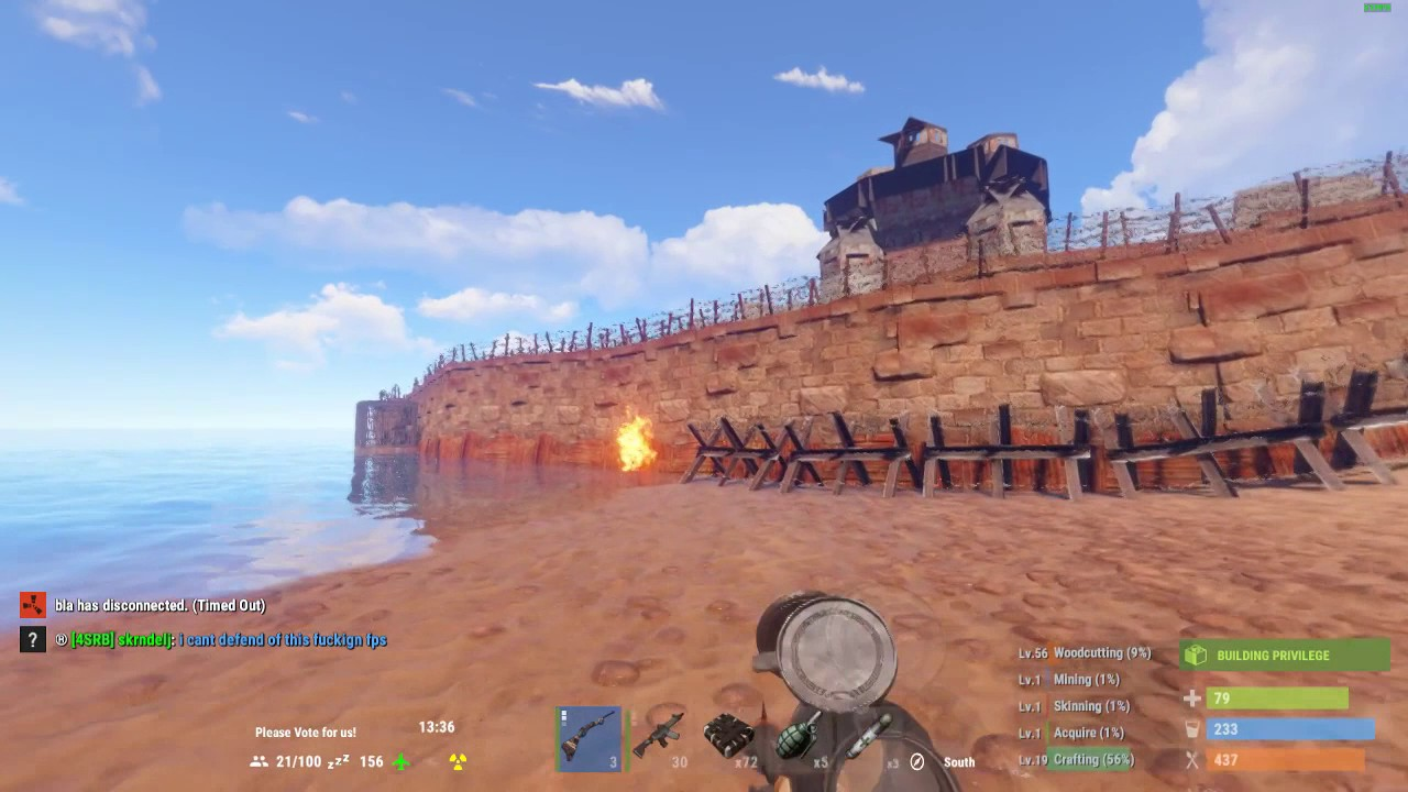 Epic rust siege on wipeday (admin POW, Rusticaland, 05/04 ...