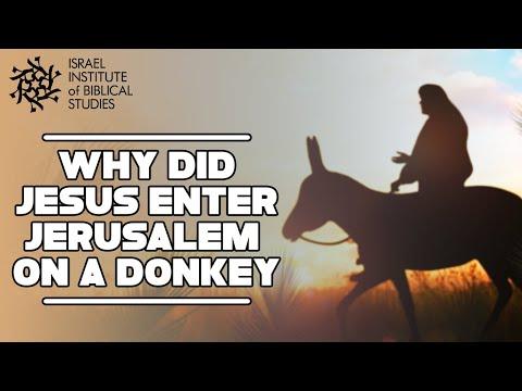 Why did Jesus enter Jerusalem riding a donkey? Jerusalem In The Footsteps of Jesus. eTeacherBiblical