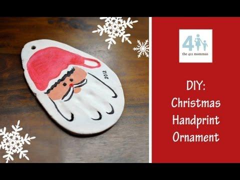 Holiday diy christmas handprint ornament rachelle youtube holiday diy christmas handprint ornament rachelle solutioingenieria Image collections