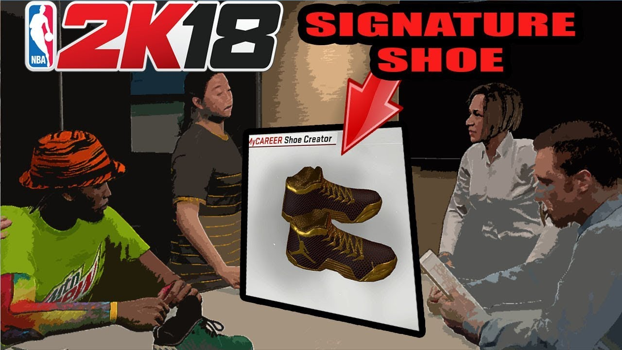 NBA 2K18 JORDANS SIGNATURE SHOE CREATION #SIMS1