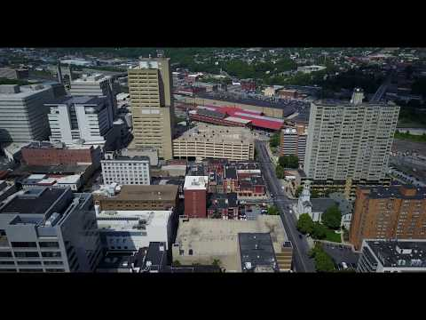 Downtown Harrisburg Pennsylvania with Capital Building in Background 004
