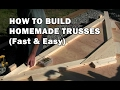 How to Build a Shed - How To Build Roof Trusses - Video 4 of 15
