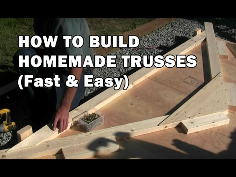 How To Build A Shed How To Build Roof Trusses Video 4