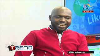 Larry Madowo makes a comeback on #theTrend