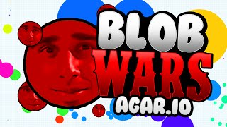 BLOB WARS #5 with Vikk, JJ, Simon & Josh (AGAR.IO / AGARIO)