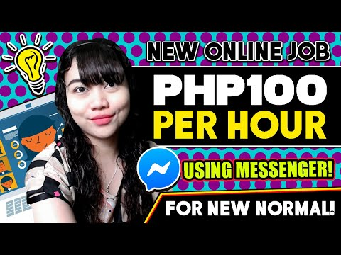 P100+/Hr Using MESSENGER: NEW NORMAL ONLINE JOB | Full Guide And Tutorial + Giveaways!