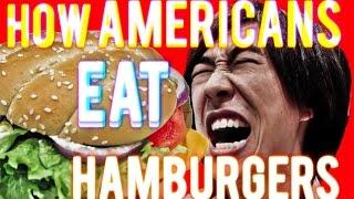 How Americans Eat Hamburgers
