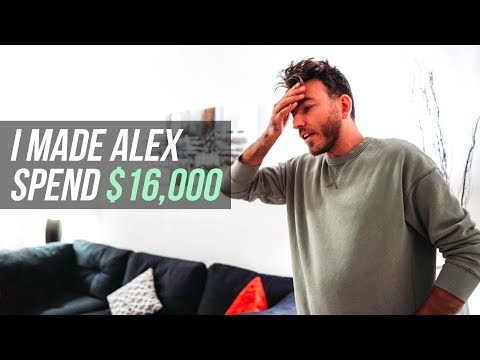 I made Alex spend $16,000.00 on stocks | Money Monday Episode #7