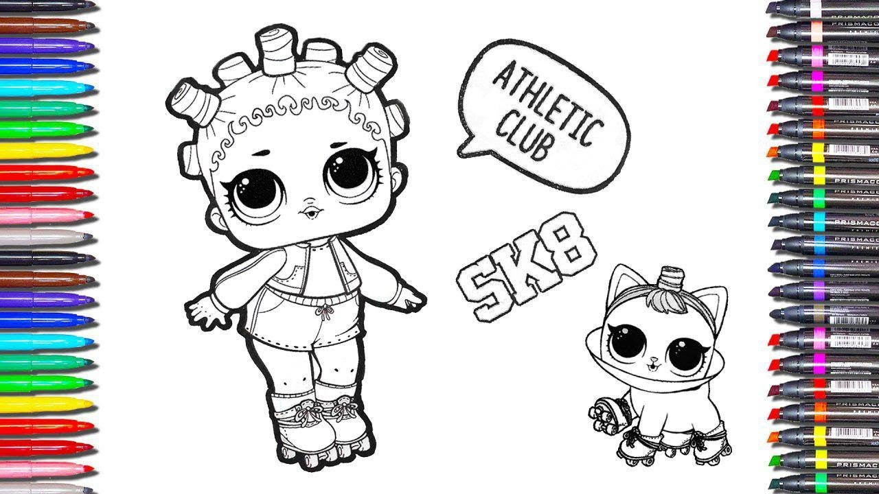 lol surprise dolls coloring page book for kids how to draw